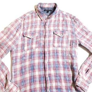 John Varvatos Pearl Snap Button Shirt